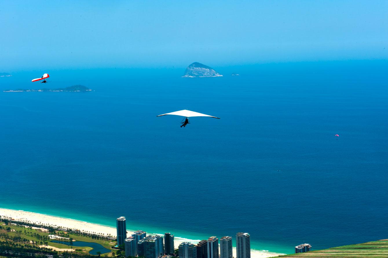 Rio de Janeiro, Brazil, hang gliding flygth